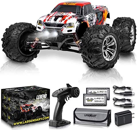 51Sw5Db3 kL. AC  - 1:10 Scale Large RC Cars 48+ kmh Speed - Boys Remote Control Car 4x4 Off Road Monster Truck Electric - All Terrain Waterproof Toys Trucks for Kids and Adults - 2 Batteries + Connector for 40+ Min Play