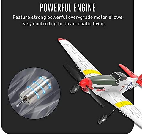 51T5 b9doAL. AC  - SONIKRC VOLANTEXRC Remote Control Airplane P51D 400mm 4CH 2.4G RC Model Plane Outdoor Toys for Kid Birthday Gift