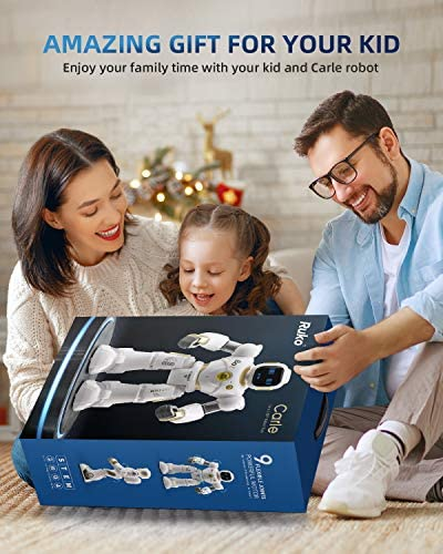 51TUxE5Q74L. AC  - Ruko AI Robots for Kids, Large Programmable RC Robot Toy with APP Control Voice Command Touch Response Bluetooth Speaker Emoji for 3-12 Years Old Boys Girls (Golden)