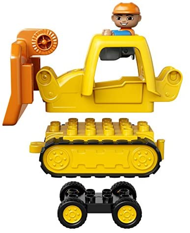 51TgTXWpbIL. AC  - LEGO DUPLO Big Construction Site 10813 Building Set with Toy Dump Truck, Toy Crane and Toy Bulldozer for a Complete Toddler Construction Toy Set (67 Pieces)
