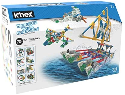 51UESMjLiIL. AC  - K'NEX 70 Model Building Set - 705 Pieces - Ages 7+ Engineering Education Toy (Amazon Exclusive)