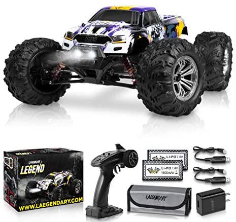 51UbJfiJI+L. AC  - 1:10 Scale Large RC Cars 48+ kmh Speed - Boys Remote Control Car 4x4 Off Road Monster Truck Electric - All Terrain Waterproof Toys Trucks for Kids and Adults - 2 Batteries + Connector for 40+ Min Play