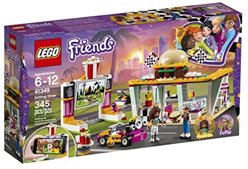 51UqoCTLAUL. AC  - LEGO Friends Drifting Diner 41349 Race Car and Go-Kart Toy Building Kit for Kids, Best Creative Gift for Girls and Boys (345 Pieces) (Discontinued by Manufacturer)
