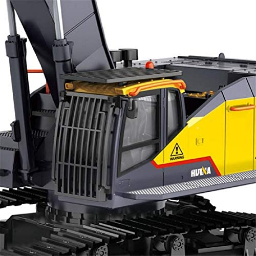 51VnuWOqhkL. AC  - HUINA 1592 Fully Functional 1:14 Scale 22 Channel Remote Control Excavator RC Toy Truck Construction Vehicle with Metal Bucket and LED Lights and Simulating Sounds – 2 Rechargeable Batteries