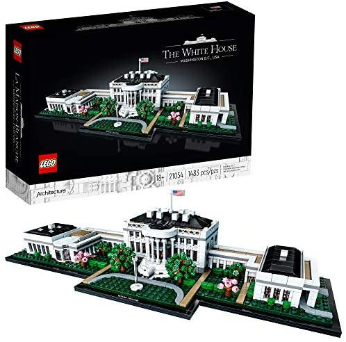 51WRGhlmY L. AC  - LEGO Architecture Collection: The White House 21054 Model Building Kit, Creative Building Set for Adults, A Revitalizing DIY Project and Great Gift for Any Hobbyists, New 2020 (1,483 Pieces)