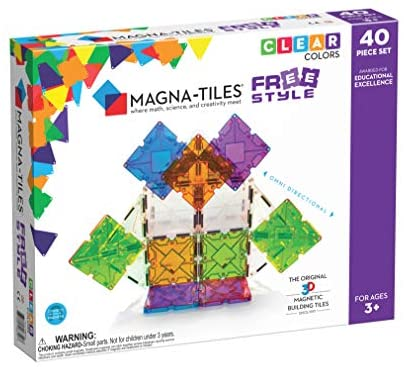 51Wmvq bz3L. AC  - Magna-Tiles Freestyle Set, The Original Magnetic Building Tiles For Creative Open-Ended Play, Educational Toys For Children Ages 3 Years + (40 Pieces)
