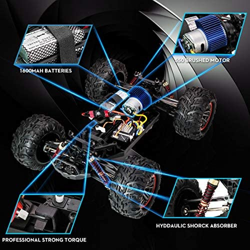 51WrIPNOVQL. AC  - FLYHAL X04 PRO Remote Control Car RC Car 52km/h 32MPH 1:10 Scale 4WD Off-Road Rc Car for Adults and Kids Replaceable Car Shell 2.4 GHz Truck (2 Batteries)
