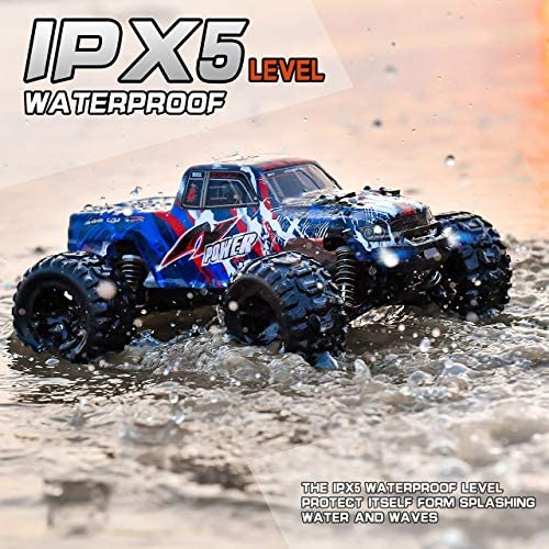 51X7BmeXJtL. AC  - BEZGAR 7 Hobby Grade 1:16 Scale Remote Control Truck, 4WD High Speed 40+ Kmh All Terrains Electric Toy Off Road RC Monster Vehicle Car Crawler with Rechargeable Batteries for Boys Kids and Adults