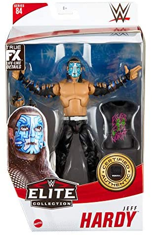 51XFPAsy44L. AC  - WWE Jeff Hardy Elite Collection Action Figure, 6-in/15.24-cm Posable Collectible Gift for WWE Fans Ages 8 Years Old & Up