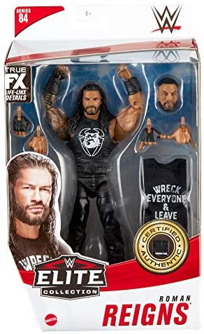 51Xb56 UV L. AC  - WWE Roman Reigns Elite Collection Action Figure, 6-in/15.24-cm Posable Collectible Gift for WWE Fans Ages 8 Years Old & Up