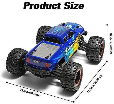 51XzJYVO4sL. AC  - MIEBELY Fast RC Cars – 4x4 Remote Control Car for Adults and Kids – 1:16 Scale Electric Powered 40km High Speed – 4WD All Terrain Off Road Truck – Ideal for Kids and Adults – 2 Rechargeable Batteries
