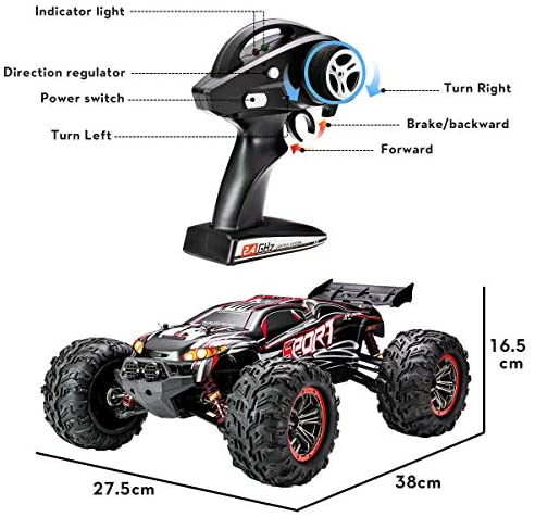 51a9eX7TKNL. AC  - FLYHAL X04 PRO Remote Control Car RC Car 52km/h 32MPH 1:10 Scale 4WD Off-Road Rc Car for Adults and Kids Replaceable Car Shell 2.4 GHz Truck (2 Batteries)