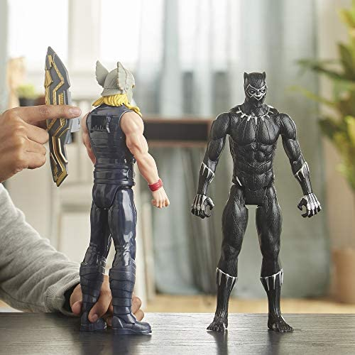 51c5SnWeHfL. AC  - Avengers Marvel Titan Hero Series Blast Gear Deluxe Black Panther Action Figure, 12-Inch Toy, Inspired by Marvel Comics, for Kids Ages 4 and Up