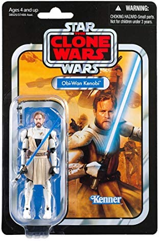 51cb7v72WvL. AC  - Star Wars The Vintage Collection OBI-Wan Kenobi Toy, 3.75-inch Scale Star Wars: The Clone Wars Action Figure, Toys for Kids Ages 4 and Up