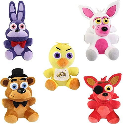 51cs8fNLSqL. AC  - Funko Five Nights at Freddy's Series 1 Plush Collection, 6-inch (Set of 5)