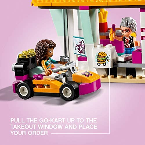 51cy5vjQrQL. AC  - LEGO Friends Drifting Diner 41349 Race Car and Go-Kart Toy Building Kit for Kids, Best Creative Gift for Girls and Boys (345 Pieces) (Discontinued by Manufacturer)