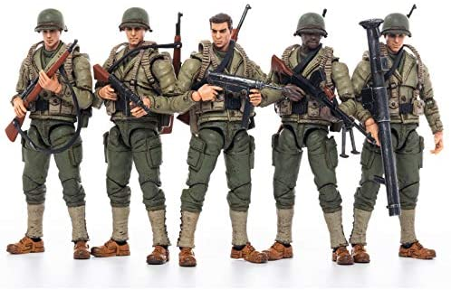 51dWjAAmCLL. AC  - JOYTOY 1/18 Action Figures 4-Inch WWII US Army Figure PVC Military Model Collection Toys
