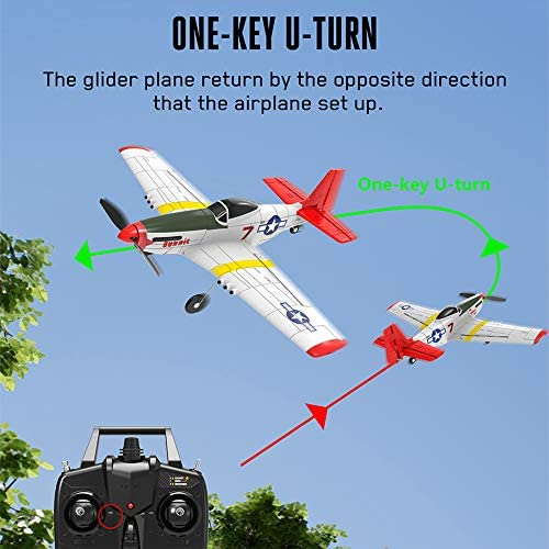 51eGs0AfPsL. AC  - SONIKRC VOLANTEXRC Remote Control Airplane P51D 400mm 4CH 2.4G RC Model Plane Outdoor Toys for Kid Birthday Gift