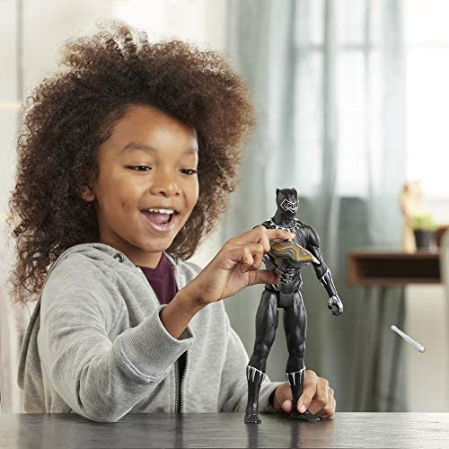 51eqjmruRML. AC  - Avengers Marvel Titan Hero Series Blast Gear Deluxe Black Panther Action Figure, 12-Inch Toy, Inspired by Marvel Comics, for Kids Ages 4 and Up