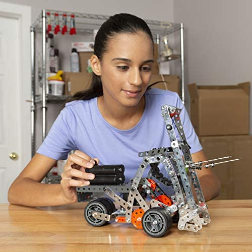 51fQpDWCGUL. AC  - Erector by Meccano Super Construction 25-In-1 Motorized Building Set, Steam Education Toy, 638 Parts, For Ages 10+