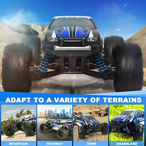 51fUXNk+DYL. AC  - IMDEN Remote Control Car, Terrain RC Cars, Electric Remote Control Off Road Monster Truck, 1:18 Scale 2.4Ghz Radio 4WD Fast 30+ MPH RC Car, with 2 Rechargeable Batteries, Blue
