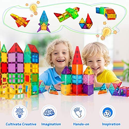 51fqMTbKknL. AC  - VATENIC 120PCS Kids Magnetic Tiles Building Blocks 2 Car Set Color Magnetic Blocks Toys for Kids Children,Educational Learning Building Toys Birthday Gifts for Boys Girls Age 3 4 5 6 7 8 9 10 Year Old