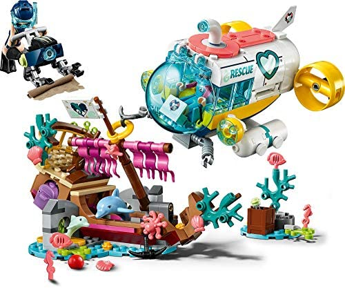 51g+CRqMedL. AC  - LEGO Friends Dolphins Rescue Mission 41378 Building Kit with Toy Submarine and Sea Creatures, Fun Sea Life Playset with Kacey and Stephanie Minifigures for Group Play (363 Pieces)