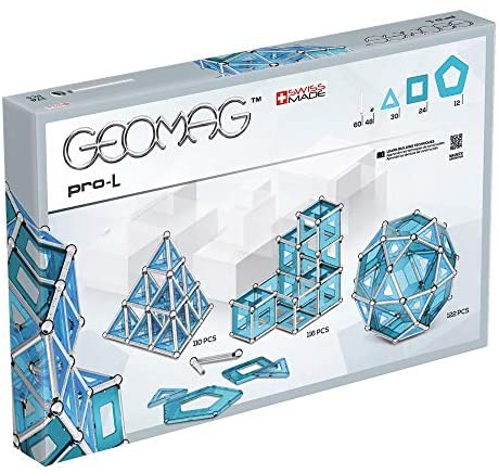 51g7vZRnYoL. AC  - GEOMAG Magnetic Toys   Magnets for Kids   STEM-endorsed Educational Building Cube Set for Creativity & Learning Fun   Swiss-made   Age 8+ Pro-L Kit 174 Piece