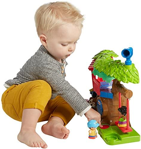 51gjTbkIz2L. AC  - Fisher Price Little People Swing and Share Treehouse Playset [Amazon Exclusive]
