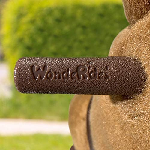 51hHDP09FYL. AC  - WondeRides Ride on Horse Toy Plush Walking Animal Giddy up Pony Mechanical Riding Horse Medium for Age 4-9 (35.8 Inch Height), Walking Horse Toy with Wheels
