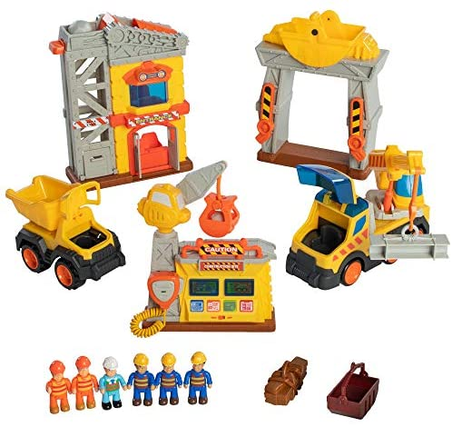 51hNJPFsbSL. AC  - Fat Brain Toys Construction Site Playset Imaginative Play for Ages 3 to 4