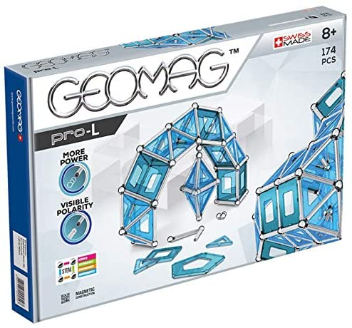51haZjqJkaL. AC  - GEOMAG Magnetic Toys   Magnets for Kids   STEM-endorsed Educational Building Cube Set for Creativity & Learning Fun   Swiss-made   Age 8+ Pro-L Kit 174 Piece