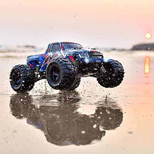 51iM5127d5L. AC  - BEZGAR 7 Hobby Grade 1:16 Scale Remote Control Truck, 4WD High Speed 40+ Kmh All Terrains Electric Toy Off Road RC Monster Vehicle Car Crawler with Rechargeable Batteries for Boys Kids and Adults