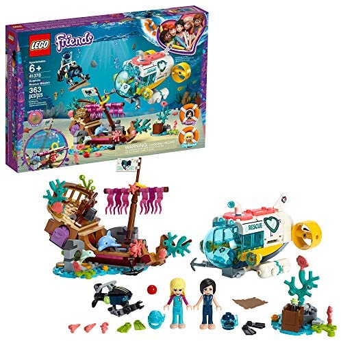 51j0RLWRtfL. AC  - LEGO Friends Dolphins Rescue Mission 41378 Building Kit with Toy Submarine and Sea Creatures, Fun Sea Life Playset with Kacey and Stephanie Minifigures for Group Play (363 Pieces)