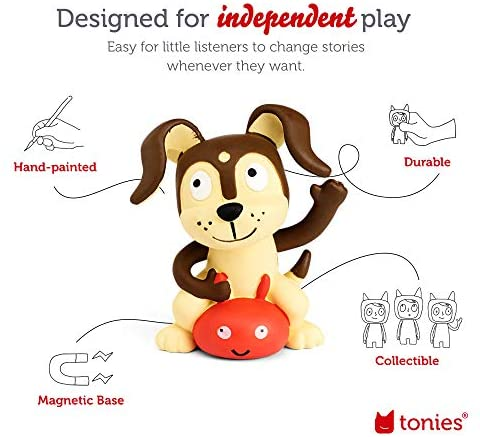 51jVi3agWaL. AC  - Toniebox Starter Set Red + Playtime Action - Educational Musical Toy for Boys and Girls - Imagination-Building, Screen-Free Digital Listening Experience That Plays Stories, Songs, and More