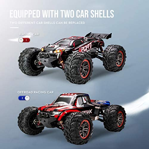51jcnkELCfL. AC  - FLYHAL X04 PRO Remote Control Car RC Car 52km/h 32MPH 1:10 Scale 4WD Off-Road Rc Car for Adults and Kids Replaceable Car Shell 2.4 GHz Truck (2 Batteries)