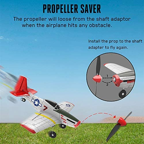 51lRnlU6BmL. AC  - SONIKRC VOLANTEXRC Remote Control Airplane P51D 400mm 4CH 2.4G RC Model Plane Outdoor Toys for Kid Birthday Gift