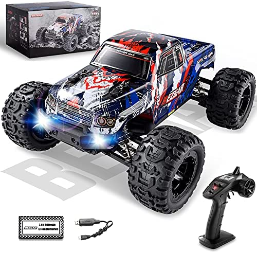 51lgUJCp2uS. AC  - BEZGAR 7 Hobby Grade 1:16 Scale Remote Control Truck, 4WD High Speed 40+ Kmh All Terrains Electric Toy Off Road RC Monster Vehicle Car Crawler with Rechargeable Batteries for Boys Kids and Adults