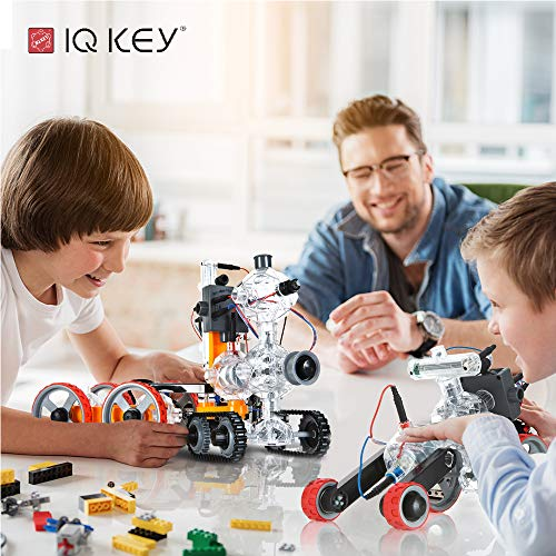 51m96Yj9e1L - IQ-KEY Perfect 1000 – STEM Educational Assembly Toy Kits, Creative Construction Engineering Builder Set for Kids [40 Models]