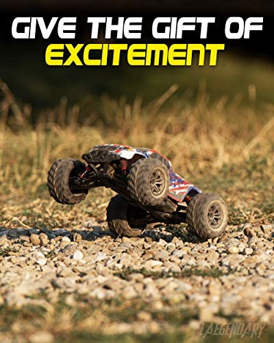 51mWBG4i71L. AC  - 1:16 Scale Large RC Cars 36+ kmh Speed - Boys Remote Control Car 4x4 Off Road Monster Truck Electric - All Terrain Waterproof Toys Trucks for Kids and Adults - 2 Batteries + Connector for 40+ Min Play