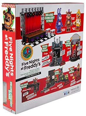 51mdijmVcKL. AC  - McFarlane Toys Five Nights at Freddy's Deluxe Concert Stage Large Construction Set