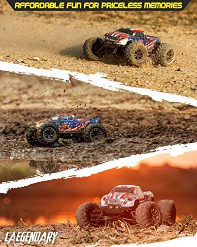 51om6BtZ5mL. AC  - 1:16 Scale Large RC Cars 36+ kmh Speed - Boys Remote Control Car 4x4 Off Road Monster Truck Electric - All Terrain Waterproof Toys Trucks for Kids and Adults - 2 Batteries + Connector for 40+ Min Play