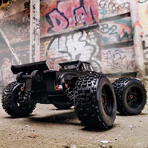 51otWUmxUVL. AC  - ARRMA 1/8 Notorious 6S V5 4WD BLX Stunt RC Truck with Spektrum Firma RTR (Transmitter and Receiver Included, Batteries and Charger Required), Black, ARA8611V5T1
