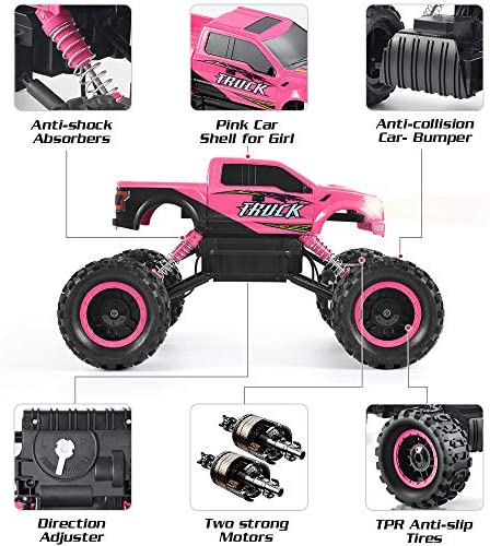 51qFhj2qHvL. AC  - DOUBLE E RC Cars Newest 1:12 Scale Remote Control Car with Rechargeable Batteries and Dual Motors Off Road RC Trucks,High Speed Racing Car for Kids