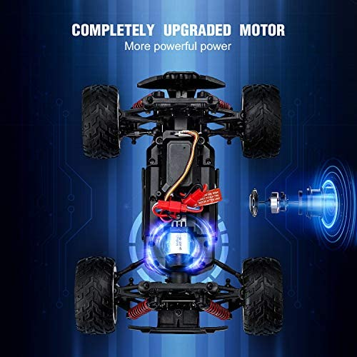 51r4DYj3j5L. AC  - EACHINE Remote Control Car for Kids Adults,EC09 RC Car High Speed 1:20Scale 40+ KM/H 4WD Off Road Monster Trucks,2.4GHz All Terrain Toy Trucks with 2 Rechargeable Battery,40+ Min Play Gifts for Boys