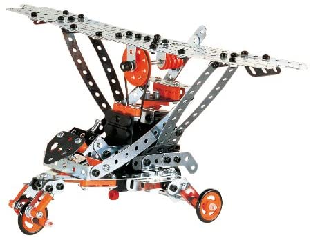 51rFuwvT2FL. AC  - Erector by Meccano Super Construction 25-In-1 Motorized Building Set, Steam Education Toy, 638 Parts, For Ages 10+