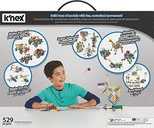 51sxSH3v6TL. AC  - K'NEX Imagine Power and Play Motorized Building Set 529 Pieces Ages 7 and Up Construction Educational Toy