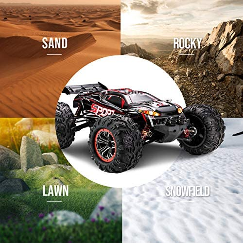 51tpPiptGHL. AC  - FLYHAL X04 PRO Remote Control Car RC Car 52km/h 32MPH 1:10 Scale 4WD Off-Road Rc Car for Adults and Kids Replaceable Car Shell 2.4 GHz Truck (2 Batteries)