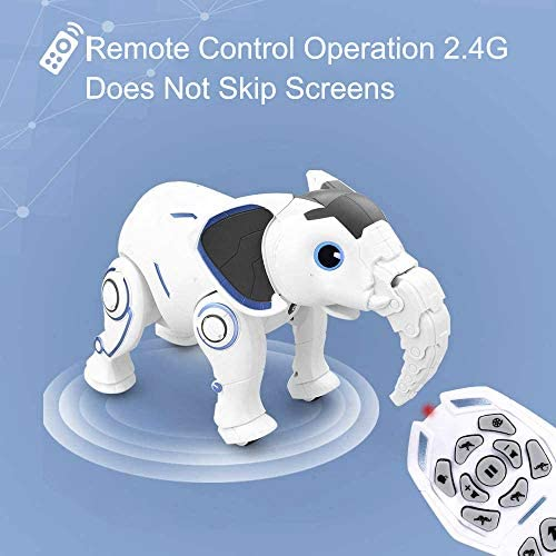 51txldZNfGL. AC  - WomToy Remote Control Robot Elephant Toy, RC Robotic Toys Singing Dancing Interactive Children Toy Early Educational Imitates Animals for Boys and Girls, Ages 3 and Up (Elephant)