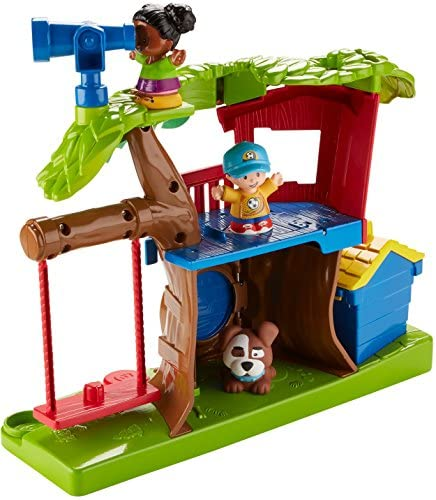 51u1IMMLPlL. AC  - Fisher Price Little People Swing and Share Treehouse Playset [Amazon Exclusive]
